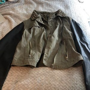 Army green studded jacket